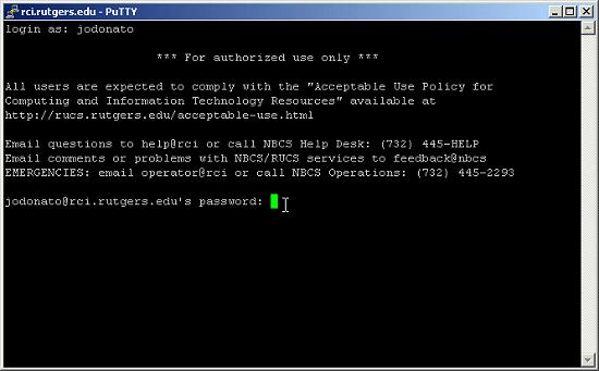 putty SSh Seedbox