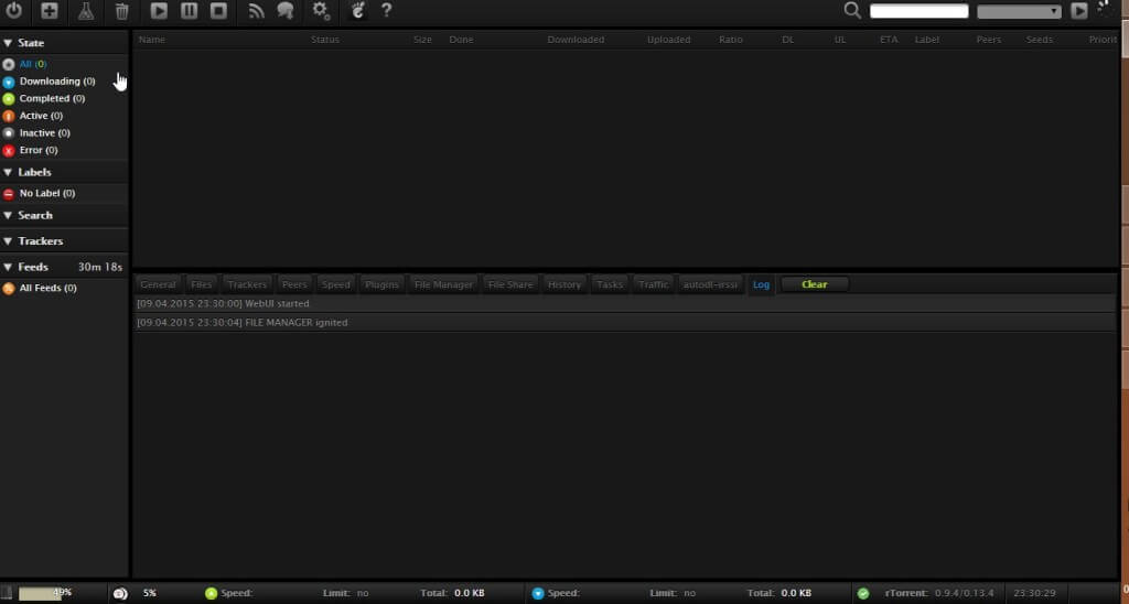 Step 1 The rutorrent Interface