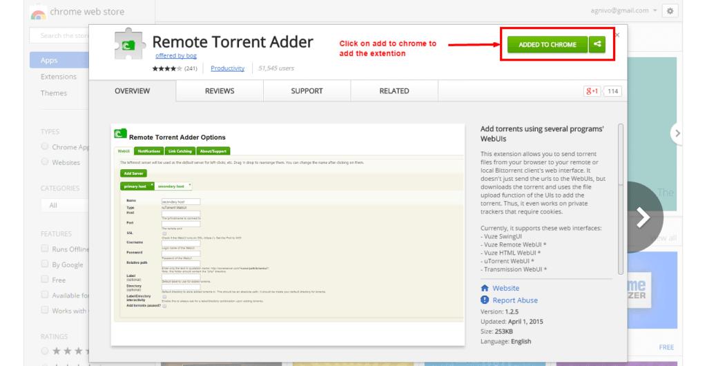 Remote Torrent Adder for seedbox
