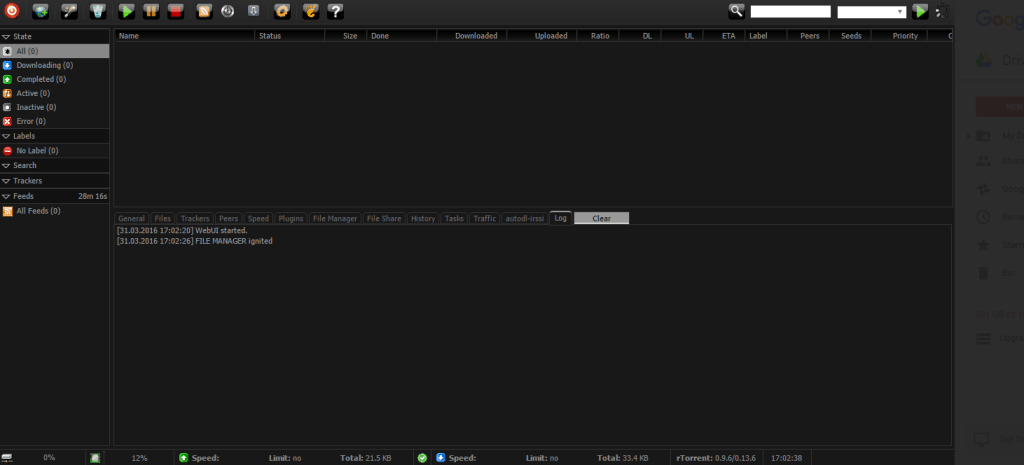 Dark Theme Rutorrent Seedbox